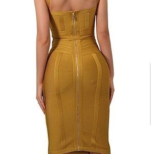 whoinshop Dresses - BANDAGE DRESS Ginger Polyester